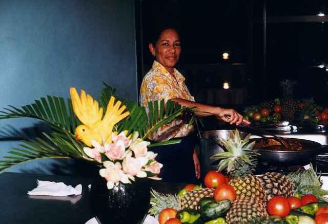 früchte am abend essen